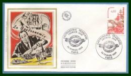 FDC Silk Soie Gastronomie 1980 N° 2077 Crustacé Viande Gateau ... - FDC