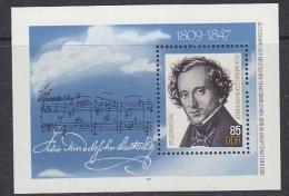 DDR 1984 Felix Mendelssohn M/s ** Mnh (31843A) - [6] Oost-Duitsland