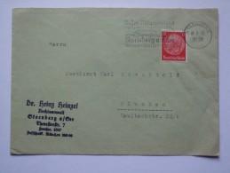 GERMANY 1938 COVER Sonderstempel Starnberg Bayer Voralpenland Starnberg Am See Sonne Wasser Wald TO MUNCHEN - Allemagne