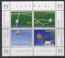 Yugoslavia 1982 World Cup Football Espana '82 M/s ** Mnh (31843B) - Blocs-feuillets