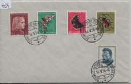 1954 Pro Juventute 1953 J148-J152 Schweiz. Automobil-Postbureau 588-592 - Pro Juventute