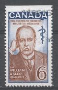 Canada 1969, Scott #495 Sir William Osler (1849-1919), Physician (U) Top Of A Sheet's - 1952-.... Règne D'Elizabeth II