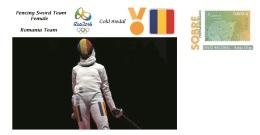 Spain 2016 - Olympic Games Rio 2016 - Gold Medal Fencing Sword Female Romania Cover - Sin Clasificación