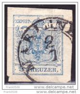 Austria 1850, Coat Of Arms, 9kr, Used - 1850-1918 Imperium