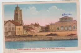NOGENT SUR SEINE (10) - LA HALLE ET LA TOUR SAINT LAURENT - Nogent-sur-Seine