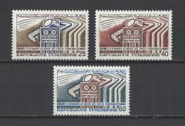 TUNISIE . YT 635/637  Neuf **  L'électronique Au Service Des Postes  1968 - Tunisie (1956-...)