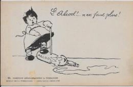 CPA Carte Ancienne 9X14 Croix Rouge Santé Médecine Tuberculose Non Circulé Médecin Alcool - Health