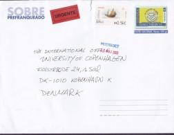 Spain Postal Stationery Ganzsache Entero SOBRE Prefranqueado 2003 Cover Letra URGENTE & ATM / Frama Labels - Poststempel - Freistempel