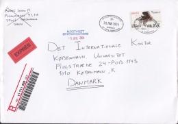 Spain EXPRÉS & Registered Certificada Labels SALAMANCA 2004 Cover Denmark ATM / Frama Label - Poststempel - Freistempel