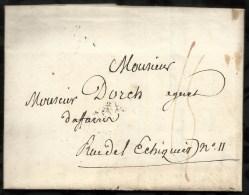 LETTRE DATEE DU 01 MAI 1817  POUR  PARIS  AU DEPART DE EPINAL  . - Marcophilie (Lettres)