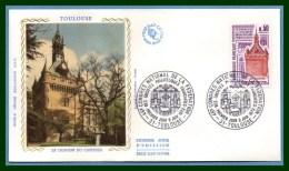 FDC Silk Soie Congrès Philatélique Toulouse 1973 N° 1763 - FDC
