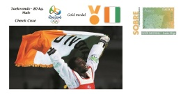 Spain 2016 - Olympic Games Rio 2016 - Gold Medal Taekwondo Male Ivory Coast Cover - Juegos Olímpicos