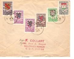 TP 538-539-540-541-542 Secours D'hiver N°1 S/L.recommandée De Namur 19/2/1941 V.Rochefort PR3358 - Bélgica