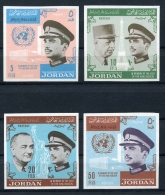Jordan, 1965, Travels Of King Hussain, United Nations, MNH Imperforated, Michel 557-560B - Jordanie