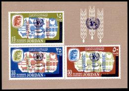 Jordan, 1966, Anti Tuberculosis Campaign, WHO, OMS, United Nations, MNH Imperforated Overprinted, Michel Block 33 - Jordan
