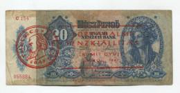 "Hongrie Hungary 20 Pengo 1941 Ovp """" TANCSICS  MIHALY 1848 """" RARE - Hongrie"