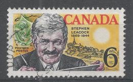 Canada 1969, Scott #504 Stephen Butler Leacock (1869-1944), Humorist (U) - 1952-.... Règne D'Elizabeth II