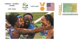 Spain 2016 - Olympic Games Rio 2016 - Gold Medal Athletics 4x100m. Female USA Cover - Juegos Olímpicos