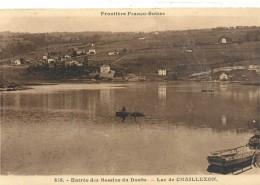 Frontiere FRANCO-SUISSE.838. ENTREE DES BASSINS DU DOUBS. LAC DE CHAILLEXON + BARQUES . NON ECRITE - France