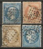 France - Obl. GC2656 NICE Sur Timbre Napoleon III Et/ou Cérès - N°22-31-55-60 - Marcophily (detached Stamps)