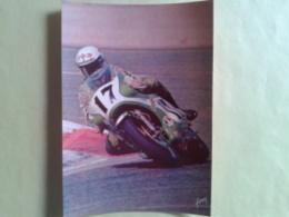 DUHAMEL.Kawasaki HDR. Circuit Paul Ricard. Carte Année 76. Un Peu Arraché Derrière La Carte Et Trace De Scotch Voir Scan - Motorcycle Sport