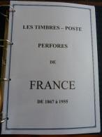 PERFORES DE FRANCE à Imprimer Sur CD Format A4 D´apres Catalogue Ancoper 2014 Perforé  Perfins Perfin  !! - France