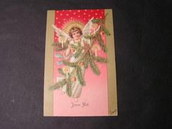 Weinachten , Engel Litho  Frankreich 1904 - Engel