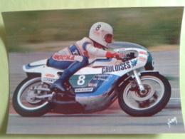 TERRAS. Yamaha 250. Circuit Paul Ricard. Année 76. Un Peu Arraché Derrière La Carte Et Trace De Scotch Voir Scan - Sport Moto