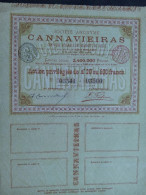 1 MINES DIAMANTS CANNAVIEIRAS Bresil Action 20 £ -500 FR - Actions & Titres