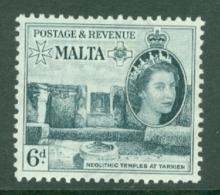 Malta: 1956/58   QE II - Pictorial    SG274   6d    MH - Malta (...-1964)