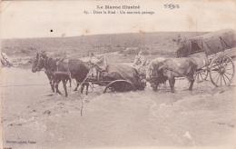 """MAROC - CP """" Dans Le Bled - Un Mauvais Passage """" - Guerre 14 - Croix-Rouge - Guerre 1914-18"""