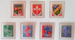 VALEURS EN NOUVEAUX FRANCS 1960/61 - NEUFS ** - YT 1230/34A - Unused Stamps
