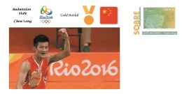 Spain 2016 - Olympic Games Rio 2016 - Gold Medal Badminton Male China Cover - Juegos Olímpicos