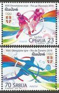 SRB 2016- OLYMPIC GAMES RIO, SERBIA, 1 X 2v, MNH - Summer 2016: Rio De Janeiro
