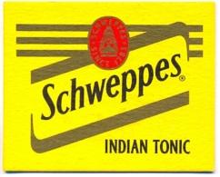 #D110-109 Viltje Schweppes - Beer Mats