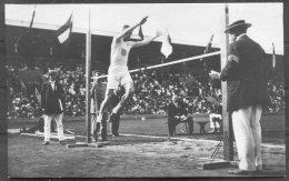 1912 Sweden Stockholm Olympics Official Postcard 203, Platt Adams, High Jump Athletics USA Gold Medal - Olympic Games