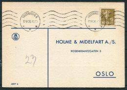 1936 Norway Chemist Medical Advertising Postcard Kristiansund - Norway