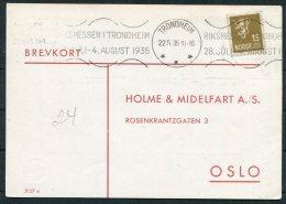1935 Norway Chemist Medical Advertising Postcard Trondheim Riksmessen - Norway
