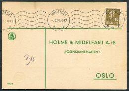 1936 Norway Chemist Medical Advertising Postcard Honefoss - Norway