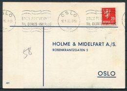 1935 Norway Chemist Medical Advertising Postcard Oslo - Norway