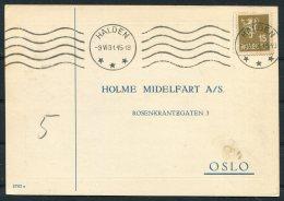 1931 Norway Chemist Medical Advertising Postcard Halden - Norway