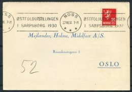 1930 Norway Chemist Medical Advertising Postcard Moss Ostfoldutstillingen Sarpsborg - Norway