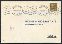 1934 Norway Chemist Medical Advertising Postcard Dramen - Norway
