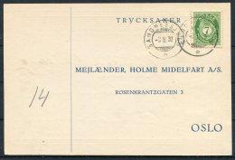 1930 Norway Chemist Medical Advertising Postcard Sandnessjeen - Norway