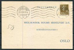 1930 Norway Chemist Medical Advertising Postcard Sandefjord - Norway