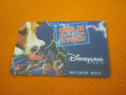 Disneyland Paris Eurodisney Disney Magnetic Entrance Card (dog Chien) - Disney