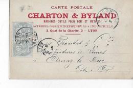 CARTE  POSTALE  Des  Ets  CHARTON  &  BYLAND  à  LYON  à  ARNAY   En  1903 - France