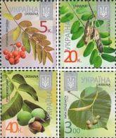 "Ukraine 2015, Definitives, Flora, Microtext ""2015-II"", 4v - Ucraina"