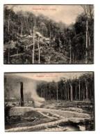 Lot De 2 Cartes Postales Singapour, Singapore, Gold MIne Pahang, Mine Perak - Singapur