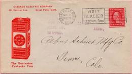 Enveloppe Des États-Unis - Great Falls (8 Mai 1920) - Covers & Documents